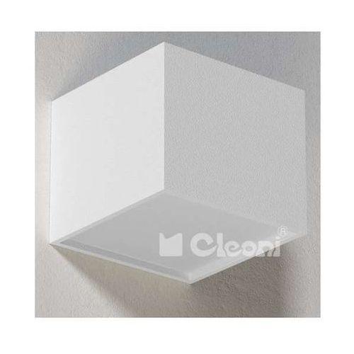 Cleoni Lampa ścienna ster t147z/d/b/w14/kolor/3000k minimalistyczna oprawa kinkiet led 20w kostka