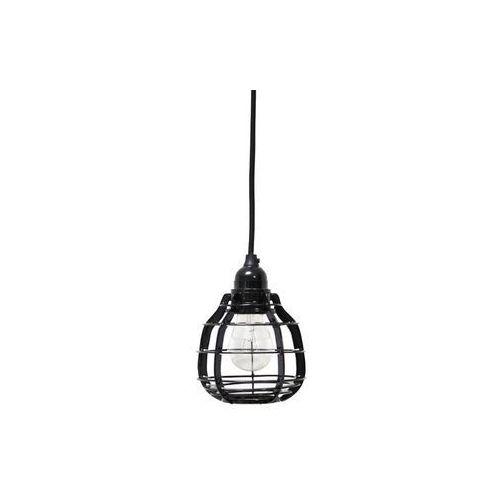 :: lampa lab czarna z włącznikiem - czarny marki Hk living