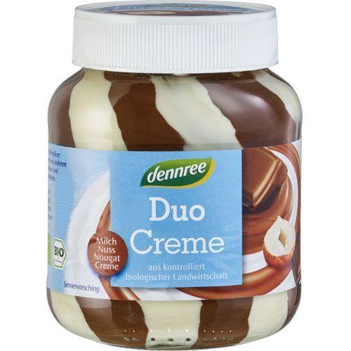 Krem nugatowy duo mleczno - orzechowy bezglutenowy bio 400 g - dennree marki Dennree (dżemy, miody, herbaty)