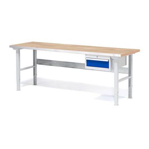 Stół warsztatowy SOLID, z szufladą, 750 kg, 2000x800 mm, dąb, 232221