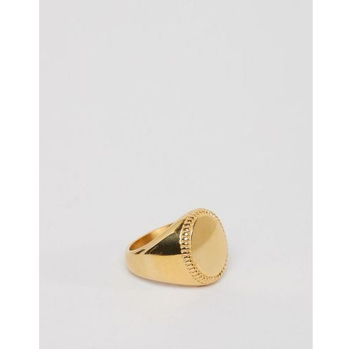 signet ring in gold - gold marki Seven london