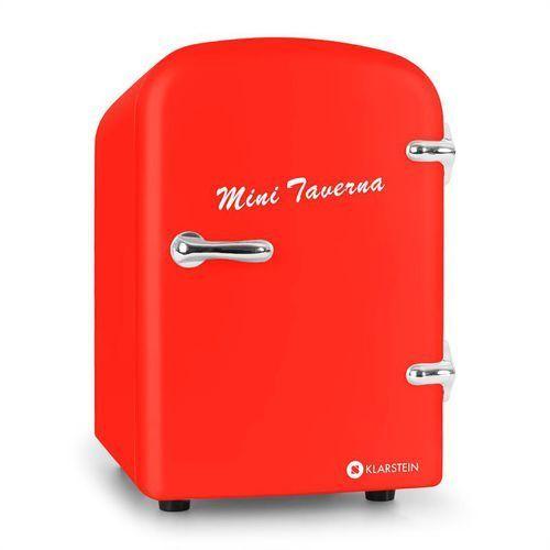 Klarstein Bella Taverna Minilodówka i miniogrzewacz 4L czerwona - produkt z kategorii- Gadżety