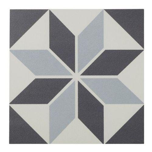 Gres Hydrolic Design 1 Colours 20 x 20 cm black&white star 1 m2, F2G7