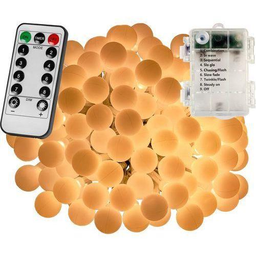 Voltronic ® Girlanda 200 led kulki na ogród lampki choinkowe dekoracyjne ciepła biel - ciepła biel / 200 led