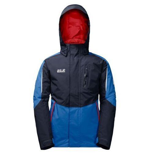 Jack wolfskin Kurtka 3w1 crosswind 3in1 jacket kids - night blue