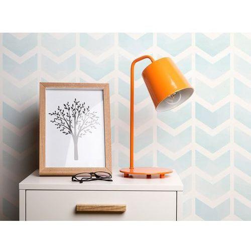 Lampa stołowa biurkowa pomarańczowa metal tarim marki Beliani