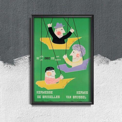 Vintageposteria.pl Plakat retro do salonu plakat retro do salonu brussels fair attraction belgium