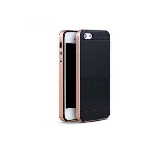iPaky Premium Hybrid Apple iPhone 5/5S/SE - Rose Gold + Szkło Hartowane, IPAKPREMHYBRIPH5RS