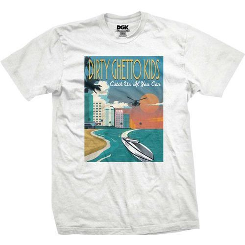 koszulka DGK - Go Fast White (WHITE) rozmiar: S, kolor biały