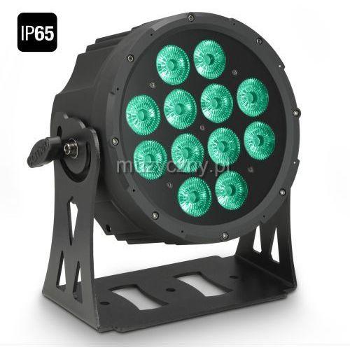 Cameo FLAT PRO 12 IP65 - 12 x 10 W FLAT LED Outdoor RGBWA PAR - reflektor LED w czarnej obudowie IP65