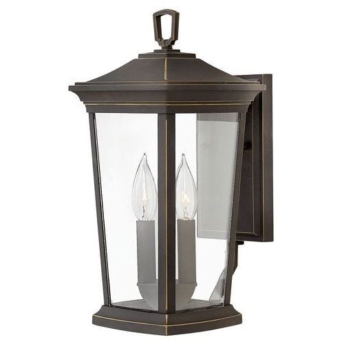 Hinkley Elewacyjna lampa zewnętrzna hk/bromley2/m elstead ogrodowa oprawa ścienna kinkiet klasyczny ip44 brąz przecierany