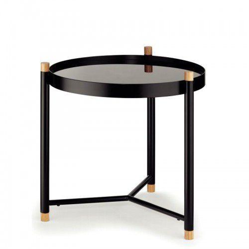 Kela stolik łazienkowy, metal/drewno dębowe, szklany blat, KE-24267 (10959099)