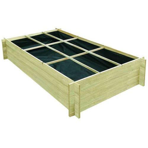 Vidaxl skrzynia ogrodowa, impregnowane drewno sosnowe, 197x100x40 cm (8718475557968)