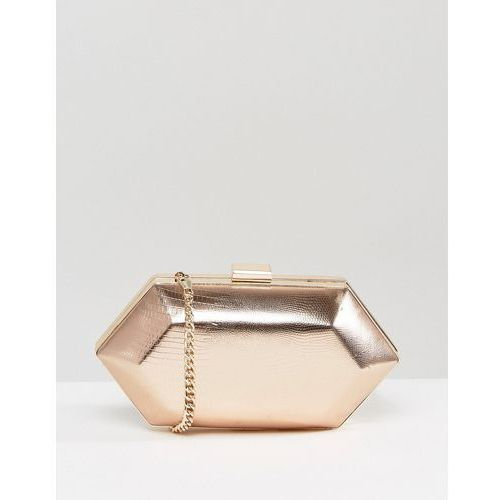 Miss kg jewel structured clutch bag - gold