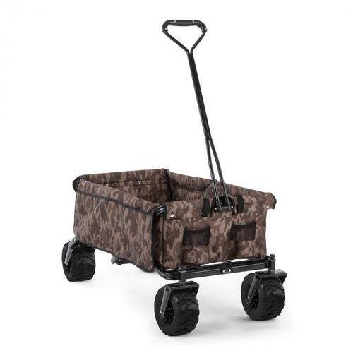 the camou wózek domowy wózek ręczny składany 70 kg 90 l koła Ø10cm kamuflażowy marki Waldbeck
