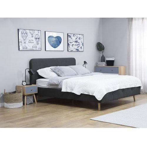 Beliani Łóżko szare - 140x200 cm - łóżko tapicerowane - rennes