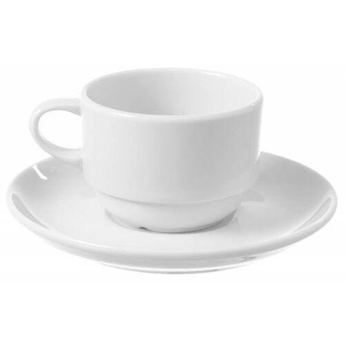 Fine dine Filiżanka sztaplowana ze spodkiem bianco | 90 lub 230 ml