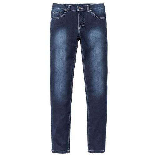 """Dżinsy Power Stretch Skinny Fit Straight bonprix ciemnoniebieski """"stone used"""", jeans"""