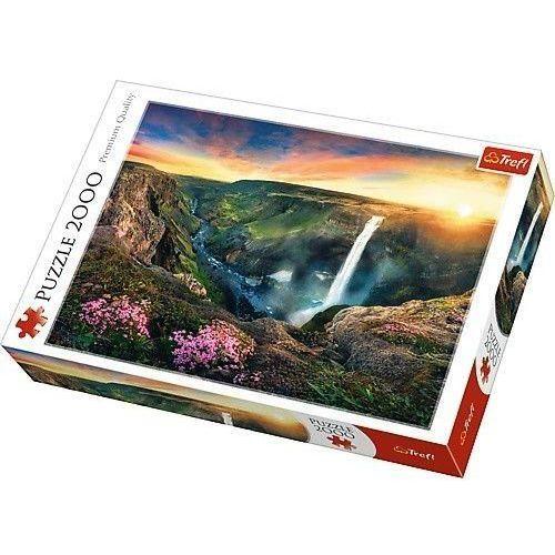 Puzzle 2000 Wodospad Haifoss, Islandia - Trefl, 1_626547