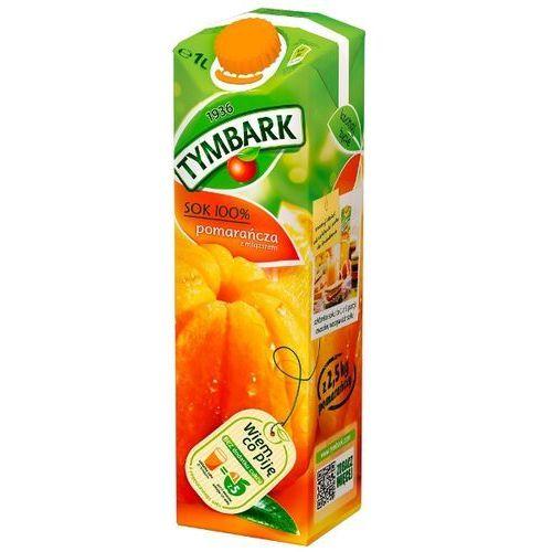 1l sok 100% pomarańcza z miąższem   darmowa dostawa od 200 zł wyprodukowany przez Tymbark