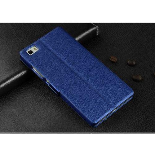 Skórzane etui z klapką - Samsung Galaxy A7 2016 (niebieskie) - Niebieski \ Samsung Galaxy A7 2016