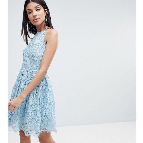 ASOS DESIGN Tall pinny prom mini dress in lace - Pink