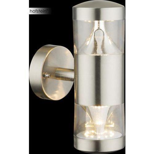 Globo Fosca Zewnętrzny kinkiet LED Srebrny, 1-punktowy - Nowoczesny - Obszar zewnętrzny - Fosca - Czas dostawy: od 6-10 dni roboczych