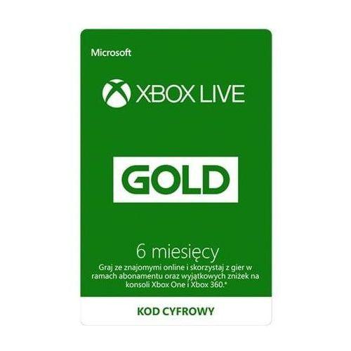 Kod aktywacyjny MICROSOFT Xbox Live Gold 6 miesięcy