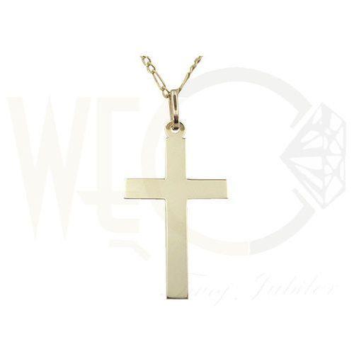 Medalik z żółtego złota WEC-Z-MED-KRZYŻYK-3