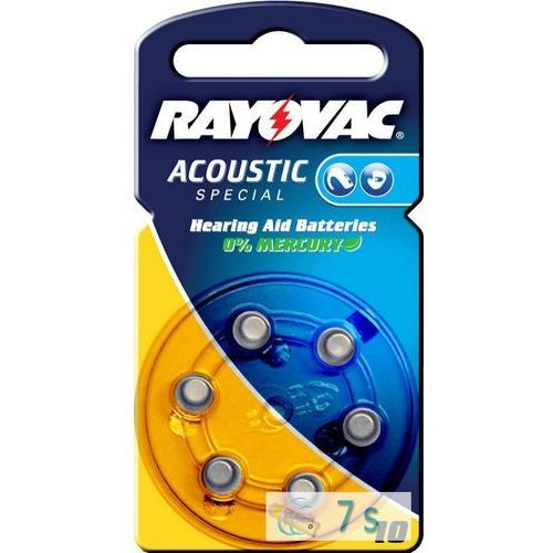 6 x baterie do aparatów słuchowych Rayovac Acoustic Special 10 (5000252003212)