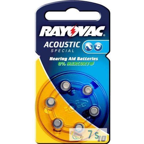 Rayovac 6 x baterie do aparatów słuchowych acoustic special 10 (5000252003212)