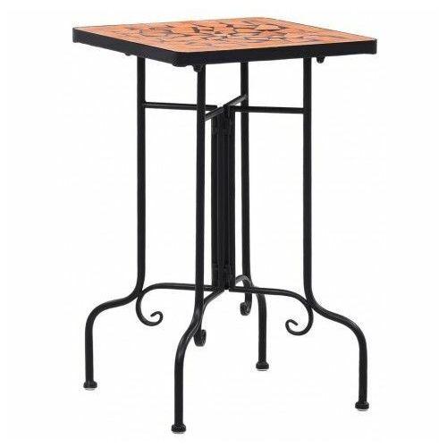 Elior Terakotowo-czarny stolik mozaikowy – barel