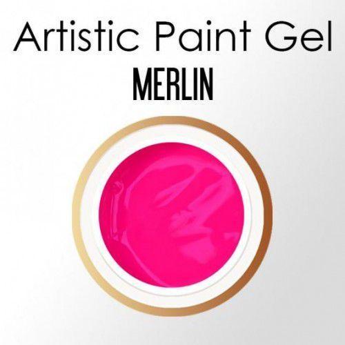 Nails company artistic paint gel pasta 5g - merlin (neonowy fiolet) marki Nc nails company
