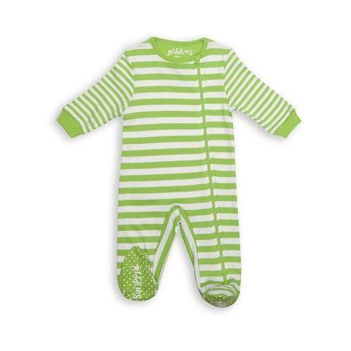 Juddlies Pajacyk Greenery Stripe 6-12 m, kolor zielony