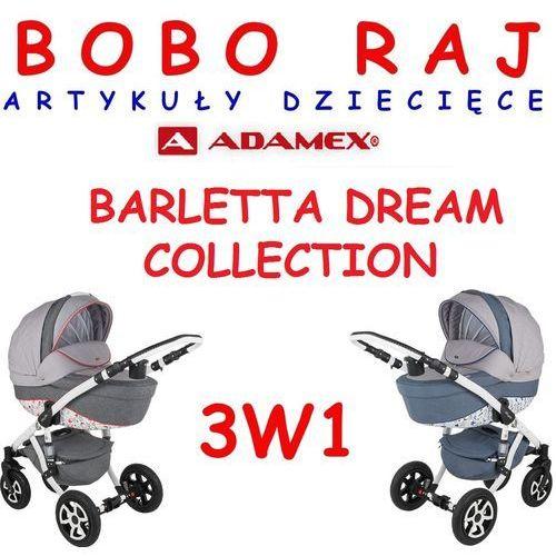 Wózek głęboko-spacerowy firmy model barletta dream collection+ fotelik 3w1 marki Adamex