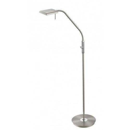 Trio bergamo 420910107 lampa stojąca podłogowa 1x12w led niklowa/biała