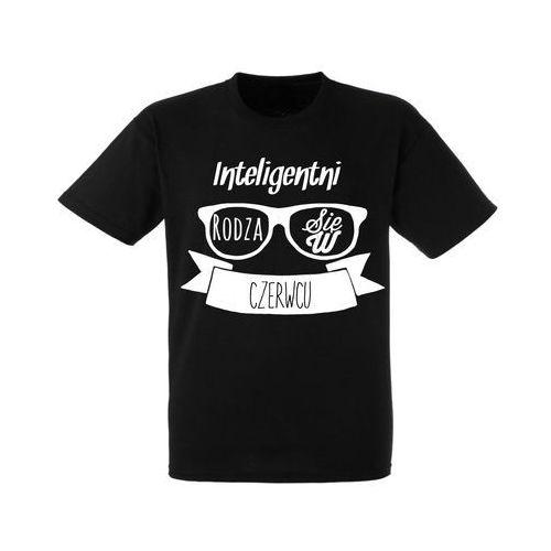 Koszulka Czarna Urodziny Czerwiec Inteligentni - URKC002-06