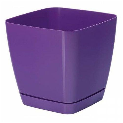 Doniczka kwadratowa TOSKANA 13 cm fioletowa 0464
