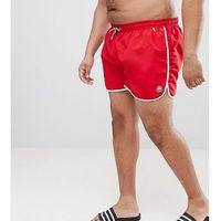 Duke King Size Swim Shorts In Red - Red, w 2 rozmiarach