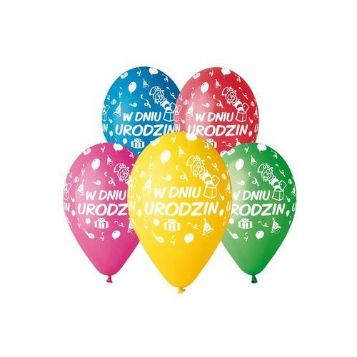 Balony w dniu urodzin 5 sztuk - godan janusz kraszek marki Gmr