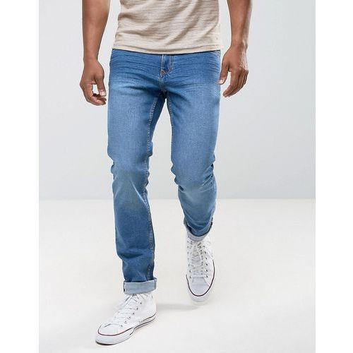 Mango Man Slim Jeans In Mid Wash - Blue, jeans