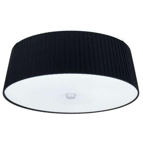 LAMPA sufitowa KAMI ELEMENTARY M 1/C/BLACK Sotto Luce okrągła OPRAWA abażurowa PLAFON plisowany czarny