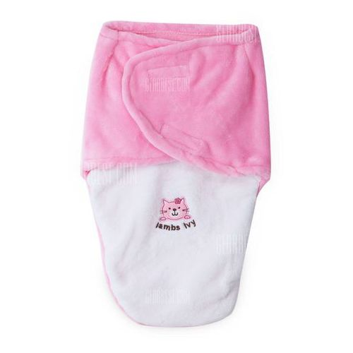 Gearbest Soft animal paint fleece infant bedding pure envelope swaddle for newborn babies