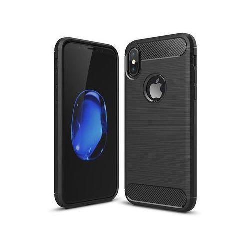 Etui armor case do apple iphone x czarne + szkło - czarny marki Alogy