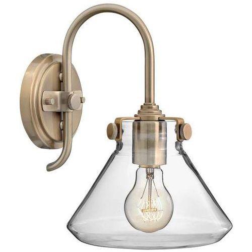 Kinkiet LAMPA ścienna HK/CONGRES1/A BC Elstead HINKLEY metalowa OPRAWA vintage szczotkowany karmel (5024005245414)
