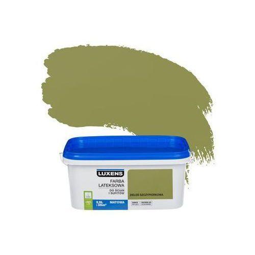 Farba wewnętrzna do ścian i sufitów emulsja 2.5 l zieleń szczypiorkowa marki Luxens