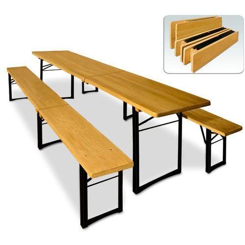 Meble do ogródka piwnego ogródek piwny ławki stół, marki Wideshop