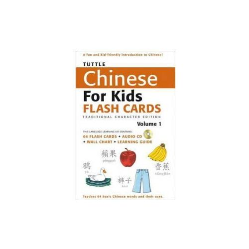 Tuttle Chinese for Kids Flash Cards Kit Vol 1 Traditional Ed (9780804839358)