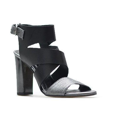 Sandały 2127/115-p czarne/srebrne, Karino