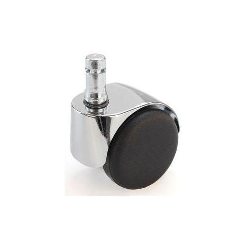 Rolka do krzesła, Ø kółka 50 mm, opak.: 5 szt.,z bolcem wtykowym z pierścieniem zaciskowym, chromowana